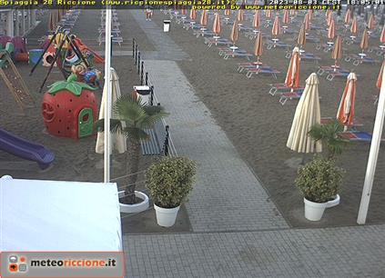 Meteo riccione previsioni webcam da hotel e spiagge - Web cam riccione bagno 81 ...