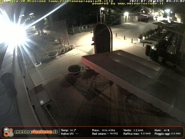 Riccione webcam - Beach 28, Riccione 3 webcam, Emilia-Romagna, Rimini
