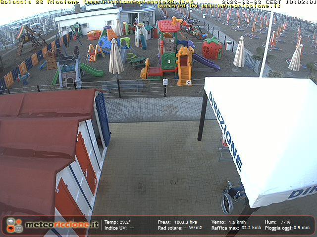 Webcam in diretta dall 39 hotel des nations di riccione for In diretta dalla camera